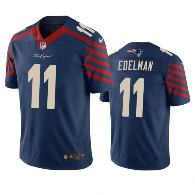 New England Patriots #11 Julian Edelman Navy Vapor Limited City Edition NFL Jersey