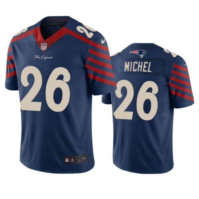 New England Patriots #26 Sony Michel Navy Vapor Limited City Edition NFL Jersey