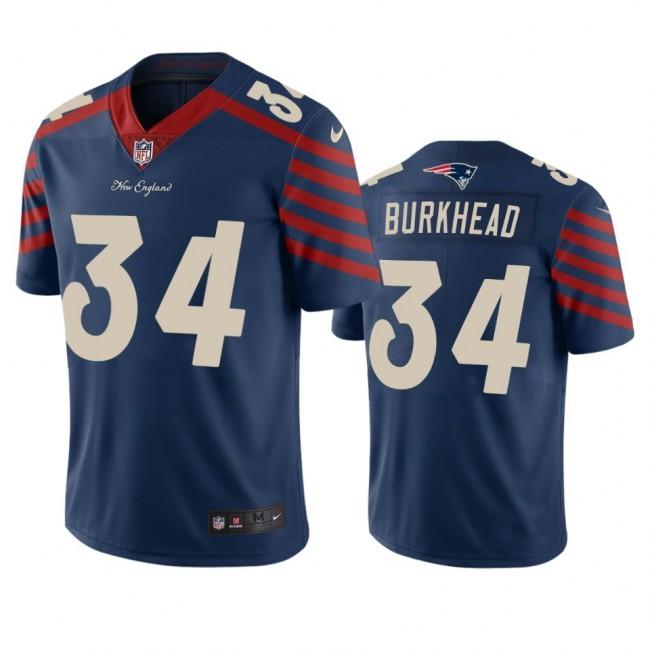 New England Patriots #34 Rex Burkhead Navy Vapor Limited City Edition NFL Jersey
