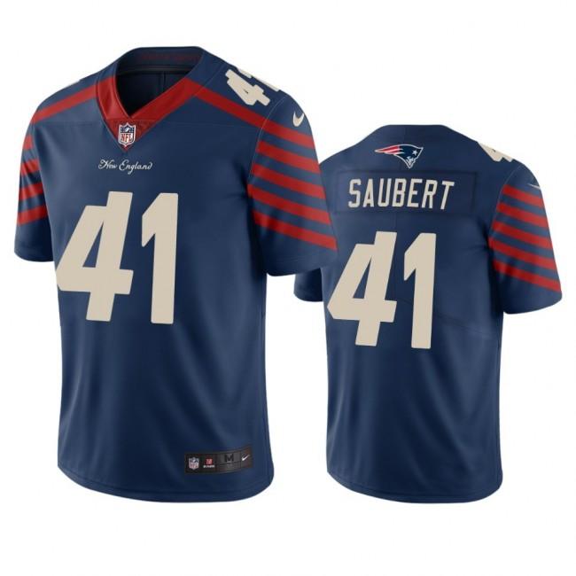 New England Patriots #41 Eric Saubert Navy Vapor Limited City Edition NFL Jersey