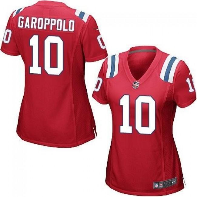 Women's Patriots #10 Jimmy Garoppolo Red Alternate Stitched NFL Elite Jersey