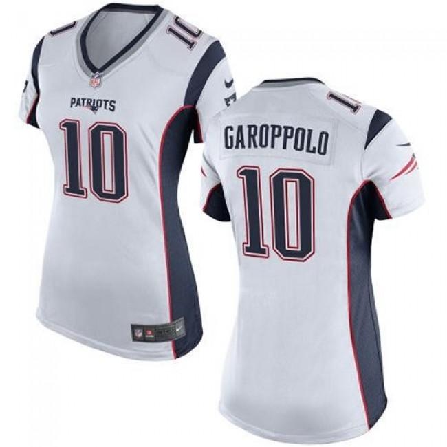 Women's Patriots #10 Jimmy Garoppolo White Stitched NFL New Elite Jersey