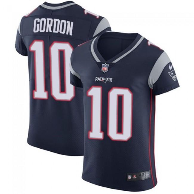 Nike Patriots #10 Josh Gordon Navy Blue Team Color Men's Stitched NFL Vapor Untouchable Elite Jersey