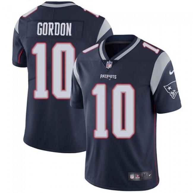 Nike Patriots #10 Josh Gordon Navy Blue Team Color Men's Stitched NFL Vapor Untouchable Limited Jersey