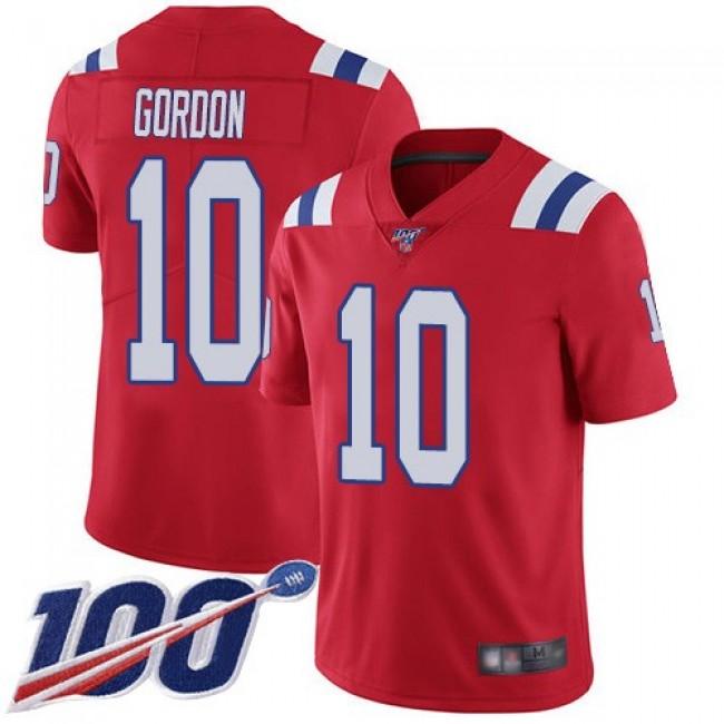 Nike Patriots #10 Josh Gordon Red Alternate Men's Stitched NFL 100th Season Vapor Limited Jersey