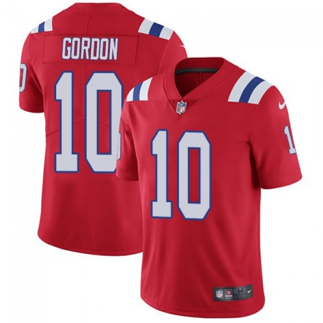 Nike Patriots #10 Josh Gordon Red Alternate Men's Stitched NFL Vapor Untouchable Limited Jersey