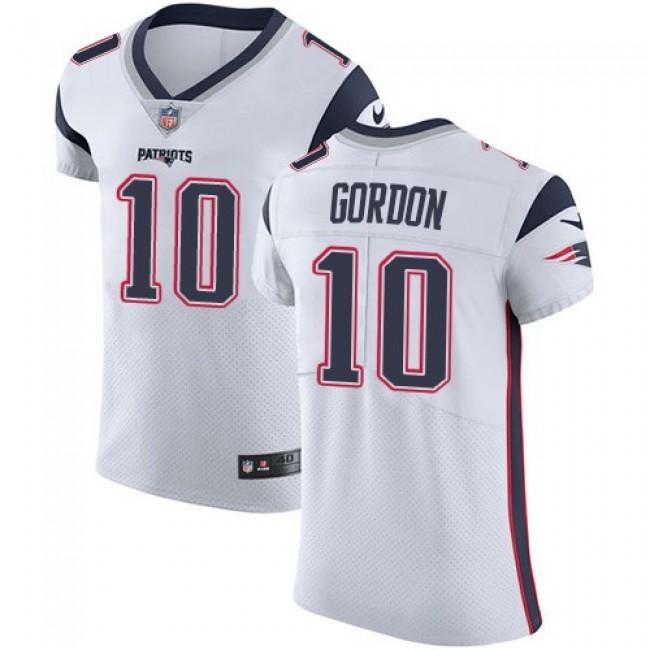 Nike Patriots #10 Josh Gordon White Men's Stitched NFL Vapor Untouchable Elite Jersey