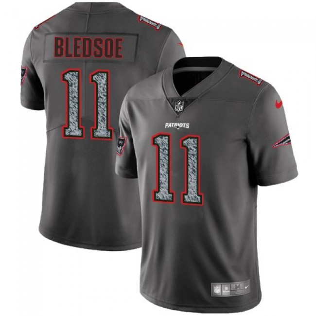 Nike Patriots #11 Drew Bledsoe Gray Static Men's Stitched NFL Vapor Untouchable Limited Jersey