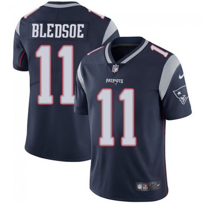 Nike Patriots #11 Drew Bledsoe Navy Blue Team Color Men's Stitched NFL Vapor Untouchable Limited Jersey