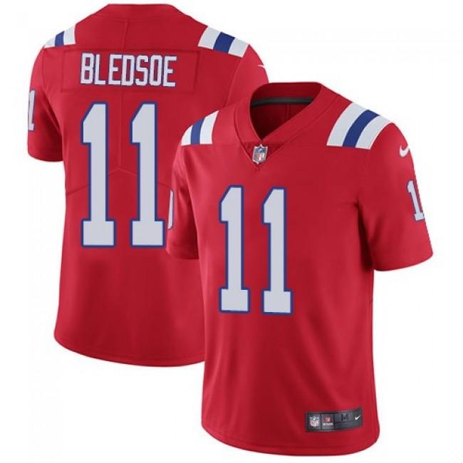 Nike Patriots #11 Drew Bledsoe Red Alternate Men's Stitched NFL Vapor Untouchable Limited Jersey