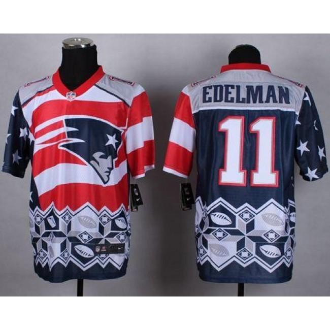 Nike Patriots #11 Julian Edelman Navy Blue Men's Stitched NFL Elite Noble Fashion Jersey