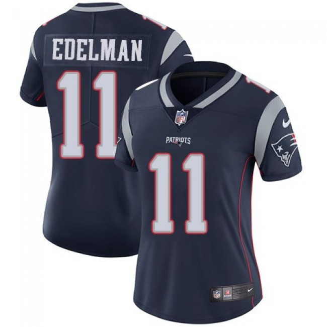 Women's Patriots #11 Julian Edelman Navy Blue Team Color Stitched NFL Vapor Untouchable Limited Jersey