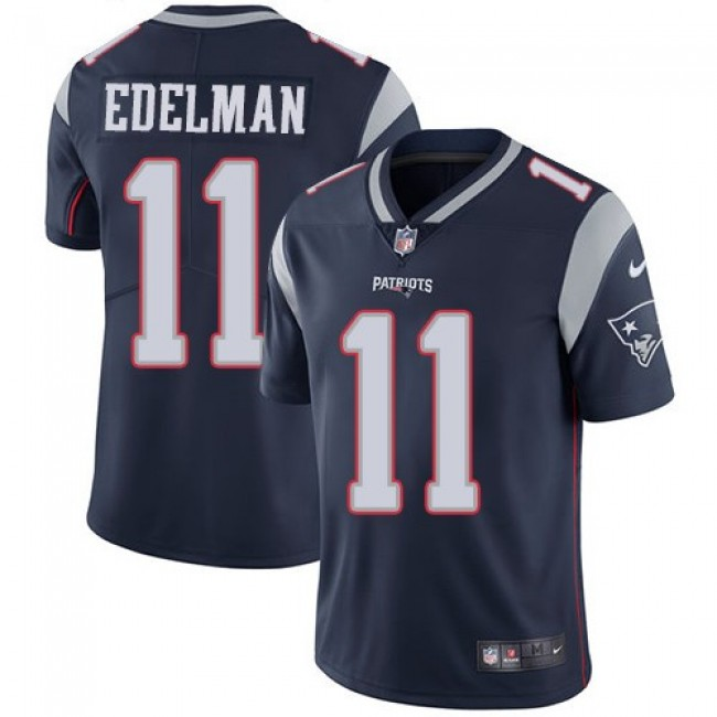 New England Patriots #11 Julian Edelman Navy Blue Team Color Youth Stitched NFL Vapor Untouchable Limited Jersey
