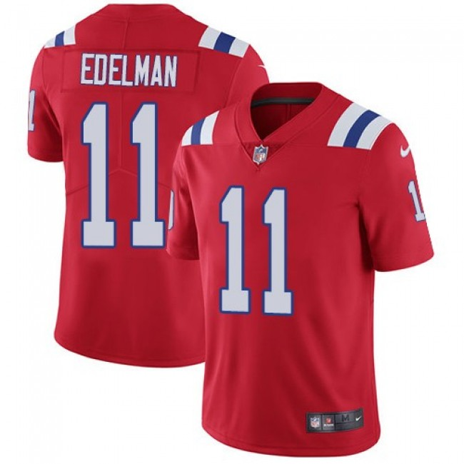 New England Patriots #11 Julian Edelman Red Alternate Youth Stitched NFL Vapor Untouchable Limited Jersey