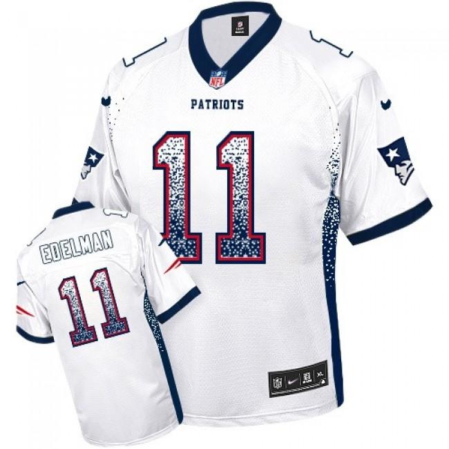 Nike Patriots #11 Julian Edelman White Men's Stitched NFL Elite Drift Fashion Jersey