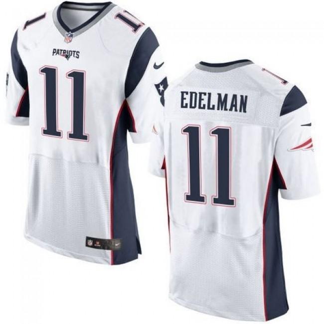 Nike Patriots #11 Julian Edelman White Men's Stitched NFL New Elite Jersey