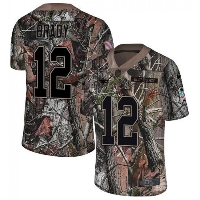 Nike Patriots #12 Tom Brady Camo Men's Stitched NFL Limited Rush Realtree Jersey
