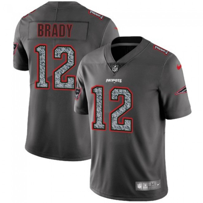 New England Patriots #12 Tom Brady Gray Static Youth Stitched NFL Vapor Untouchable Limited Jersey