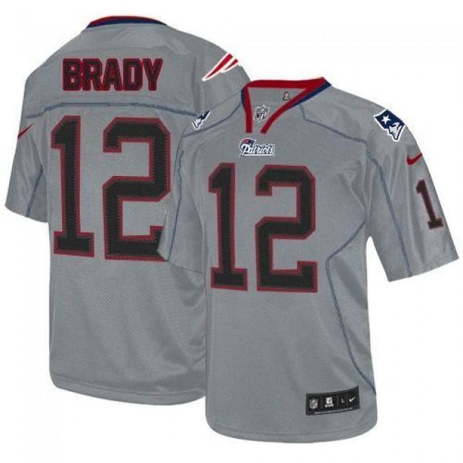 Nike Patriots #12 Tom Brady Lights Out Grey Men's Stitched NFL Elite Jersey