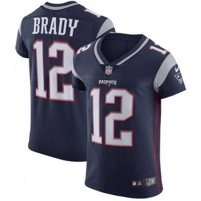 Nike Patriots #12 Tom Brady Navy Blue Team Color Men's Stitched NFL Vapor Untouchable Elite Jersey