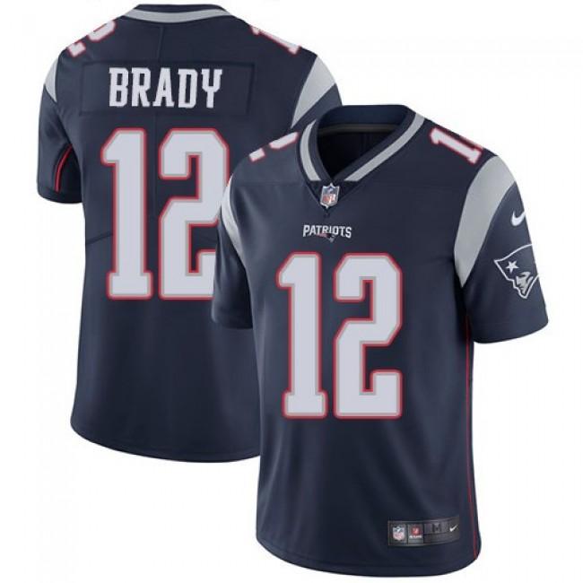 Nike Patriots #12 Tom Brady Navy Blue Team Color Men's Stitched NFL Vapor Untouchable Limited Jersey