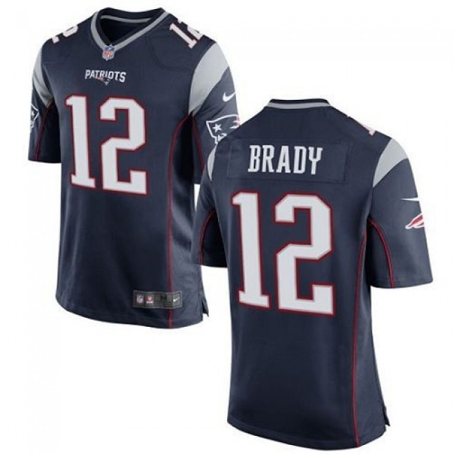 New England Patriots #12 Tom Brady Navy Blue Team Color Youth Stitched NFL New Elite Jersey