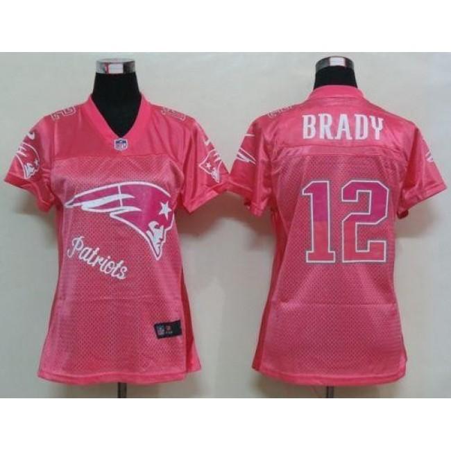 Women's Patriots #12 Tom Brady Pink Fem Fan NFL Game Jersey