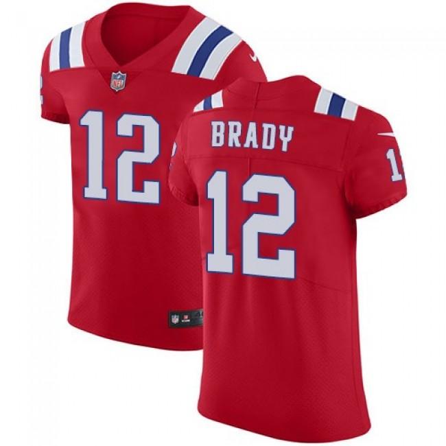 Nike Patriots #12 Tom Brady Red Alternate Men's Stitched NFL Vapor Untouchable Elite Jersey