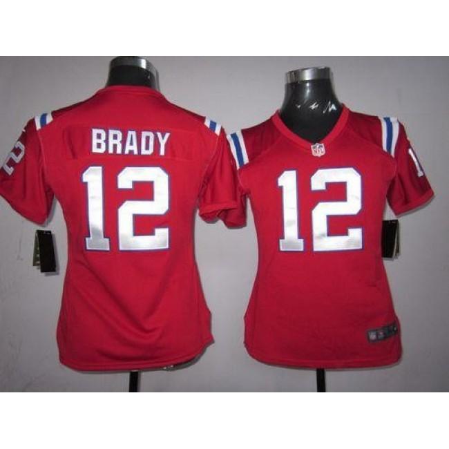 Women's Patriots #12 Tom Brady Red Alternate Stitched NFL Elite Jersey