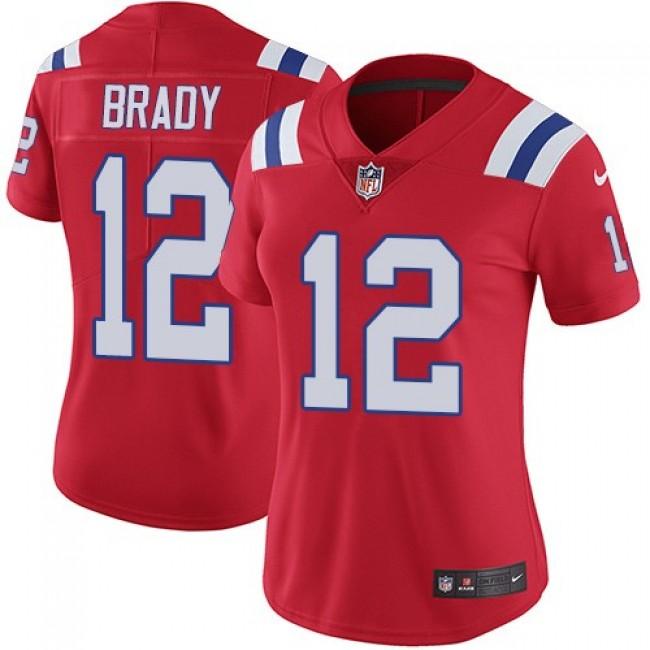 Women's Patriots #12 Tom Brady Red Alternate Stitched NFL Vapor Untouchable Limited Jersey
