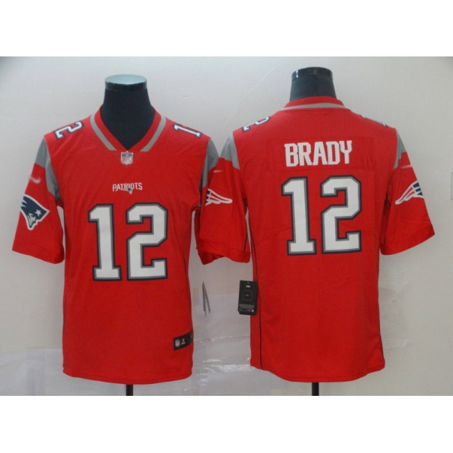 Nike Patriots #12 Tom Brady Red Men's Stitched NFL Limited Inverted Legend Jersey