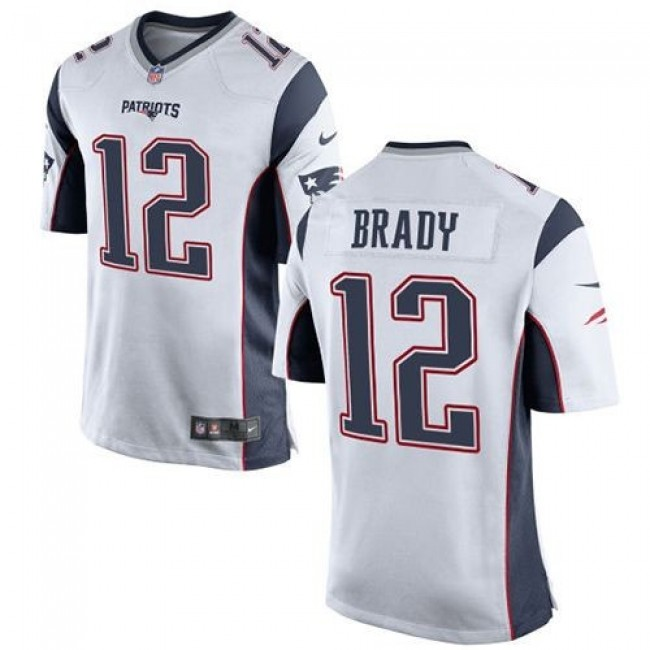New England Patriots #12 Tom Brady White Youth Stitched NFL New Elite Jersey