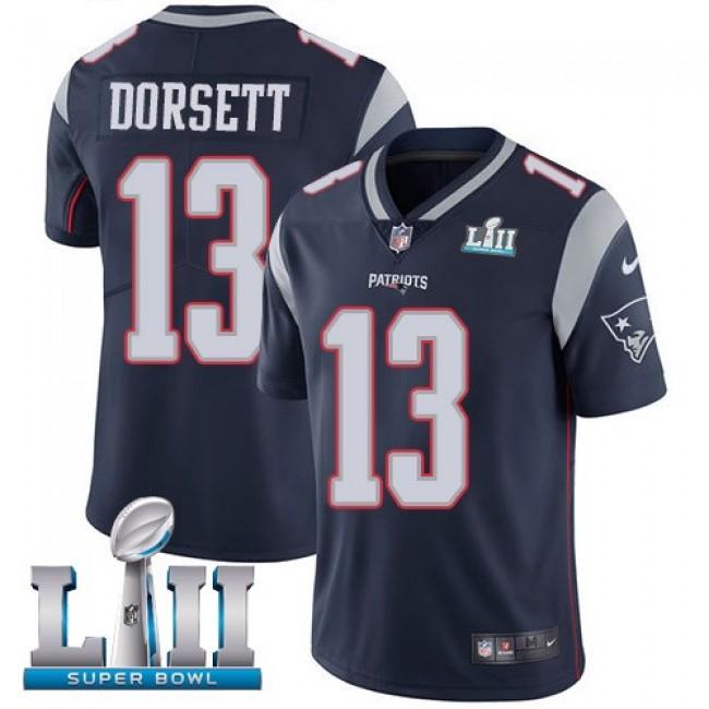 New England Patriots #13 Phillip Dorsett Navy Blue Team Color Super Bowl LII Youth Stitched NFL Vapor Untouchable Limited Jersey