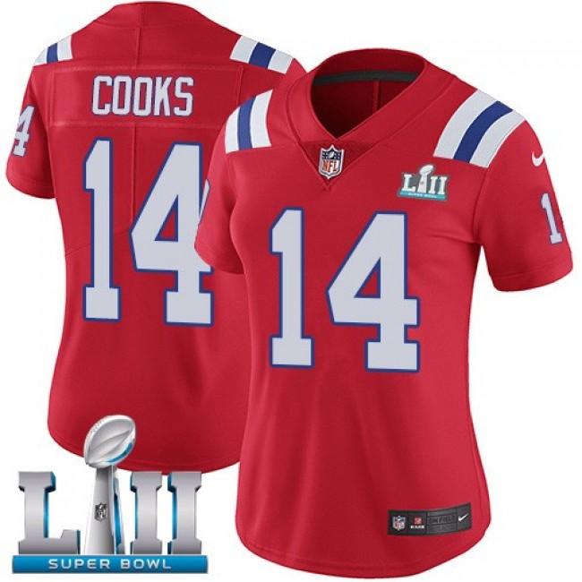 Women's Patriots #14 Brandin Cooks Red Alternate Super Bowl LII Stitched NFL Vapor Untouchable Limited Jersey