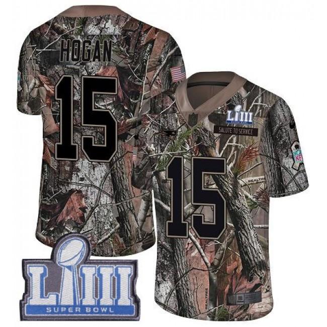 Nike Patriots #15 Chris Hogan Camo Super Bowl LIII Bound Men's Stitched NFL Limited Rush Realtree Jersey