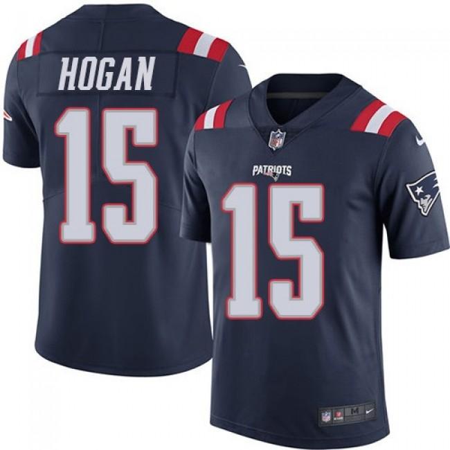 Nike Patriots #15 Chris Hogan Navy Blue Men's Stitched NFL Limited Rush Jersey