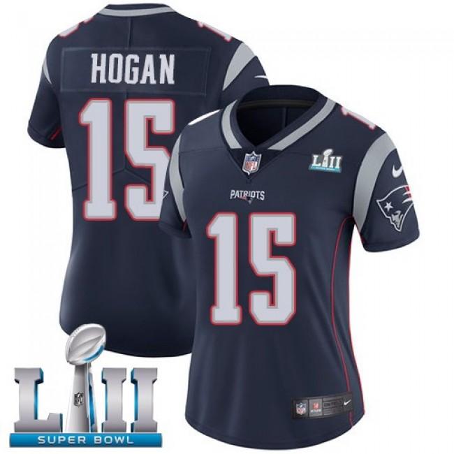 Women's Patriots #15 Chris Hogan Navy Blue Team Color Super Bowl LII Stitched NFL Vapor Untouchable Limited Jersey
