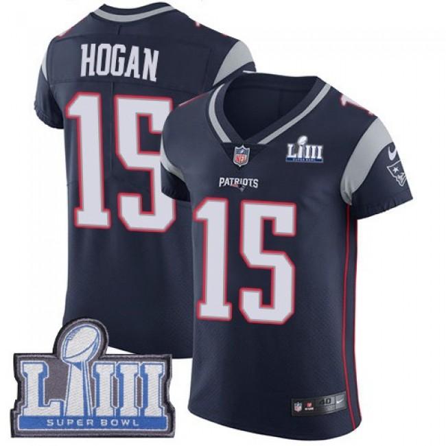 Nike Patriots #15 Chris Hogan Navy Blue Team Color Super Bowl LIII Bound Men's Stitched NFL Vapor Untouchable Elite Jersey