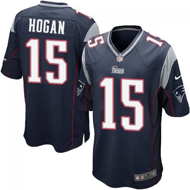 New England Patriots #15 Chris Hogan Navy Blue Team Color Youth Stitched NFL New Elite Jersey