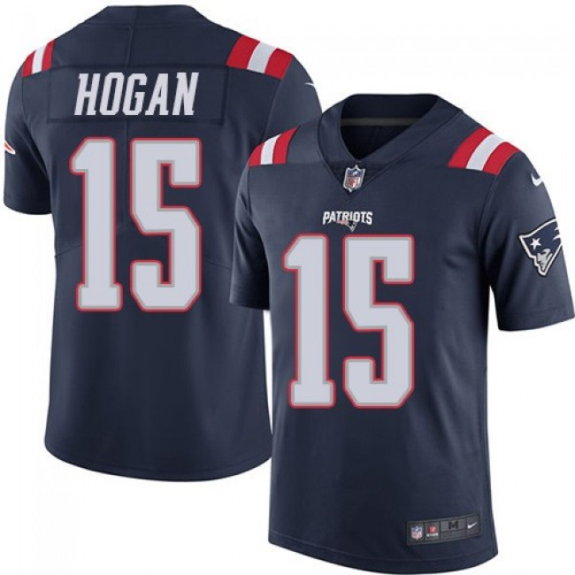 New England Patriots #15 Chris Hogan Navy Blue Youth Stitched NFL Limited Rush Jersey