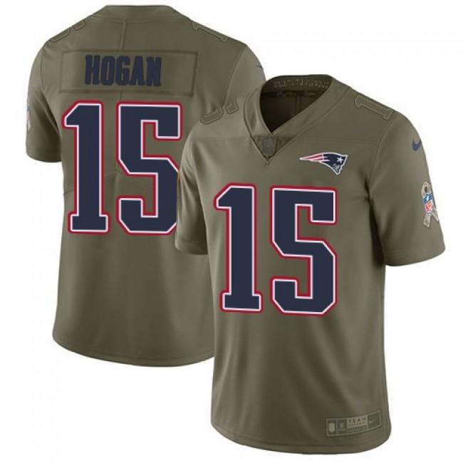 Nike Patriots #15 Chris Hogan Olive Men's Stitched NFL Limited 2017 Salute To Service Jersey