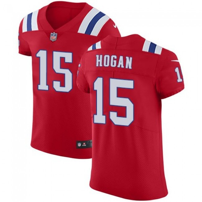 Nike Patriots #15 Chris Hogan Red Alternate Men's Stitched NFL Vapor Untouchable Elite Jersey