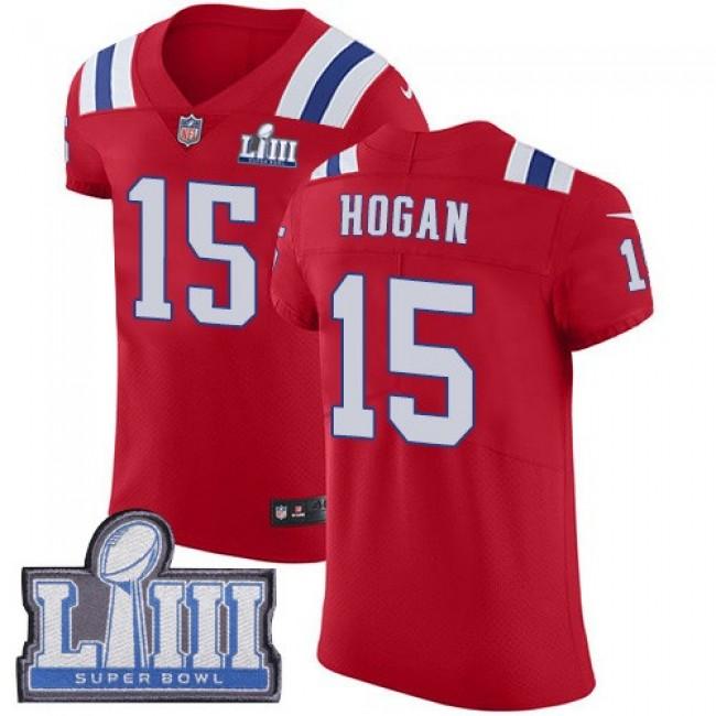 Nike Patriots #15 Chris Hogan Red Alternate Super Bowl LIII Bound Men's Stitched NFL Vapor Untouchable Elite Jersey