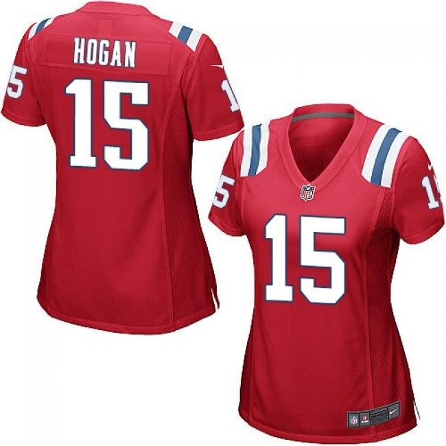 Women's Patriots #15 Chris Hogan Red Alternate Stitched NFL Elite Jersey