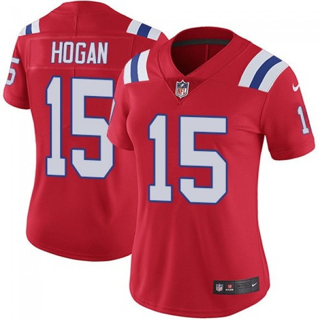 Women's Patriots #15 Chris Hogan Red Alternate Stitched NFL Vapor Untouchable Limited Jersey