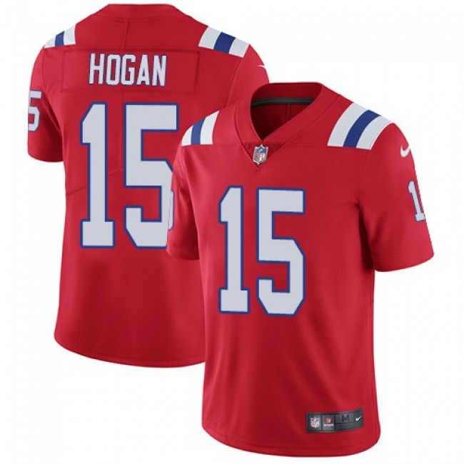 New England Patriots #15 Chris Hogan Red Alternate Youth Stitched NFL Vapor Untouchable Limited Jersey
