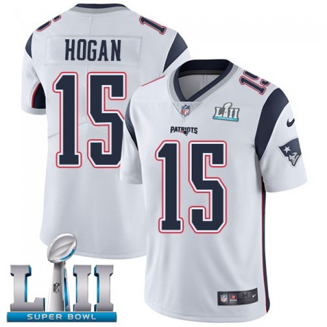 New England Patriots #15 Chris Hogan White Super Bowl LII Youth Stitched NFL Vapor Untouchable Limited Jersey
