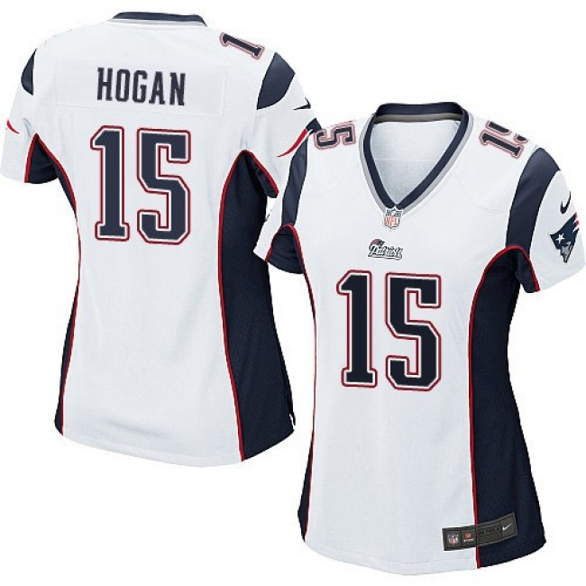 Women's Patriots #15 Chris Hogan White Stitched NFL New Elite Jersey