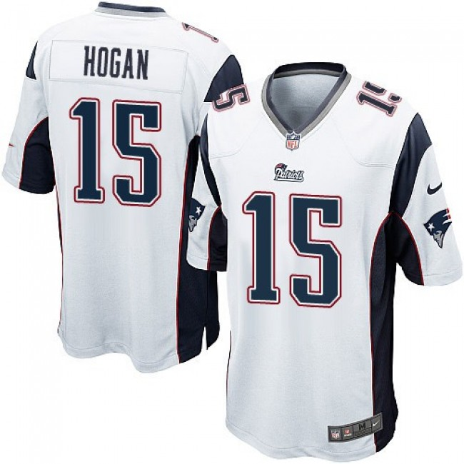 New England Patriots #15 Chris Hogan White Youth Stitched NFL New Elite Jersey