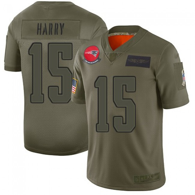 Nike Patriots #15 N'Keal Harry Camo Men's Stitched NFL Limited 2019 Salute To Service Jersey